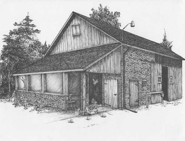Perhaps Its The Little Bit Of Country In Me But I Love Old Barns So Was More Than Thrilled When A Dear Friend Asked To Draw Her Horse Barn